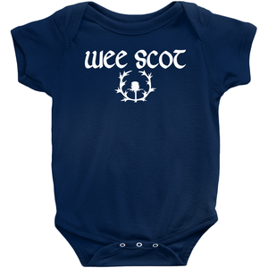 """Wee Scot"" Baby Bodysuit - Mountain Thyme"