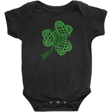 Load image into Gallery viewer, Celtic Shamrock Baby Bodysuit - Mountain Thyme
