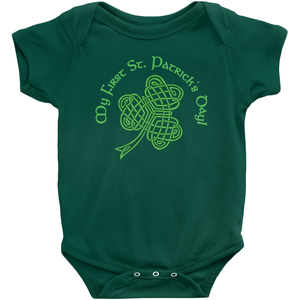 My First St. Patrick's Day! Baby Bodysuit - Mountain Thyme