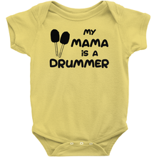 Load image into Gallery viewer, My Mama is a Drummer (Bass) Baby Bodysuit - Mountain Thyme
