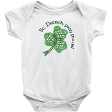 Load image into Gallery viewer, St. Patrick, Pray for Us! Baby Bodysuit - Mountain Thyme