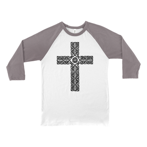 Celtic Cross Baseball Tee - Mountain Thyme