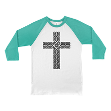Load image into Gallery viewer, Celtic Cross Baseball Tee - Mountain Thyme