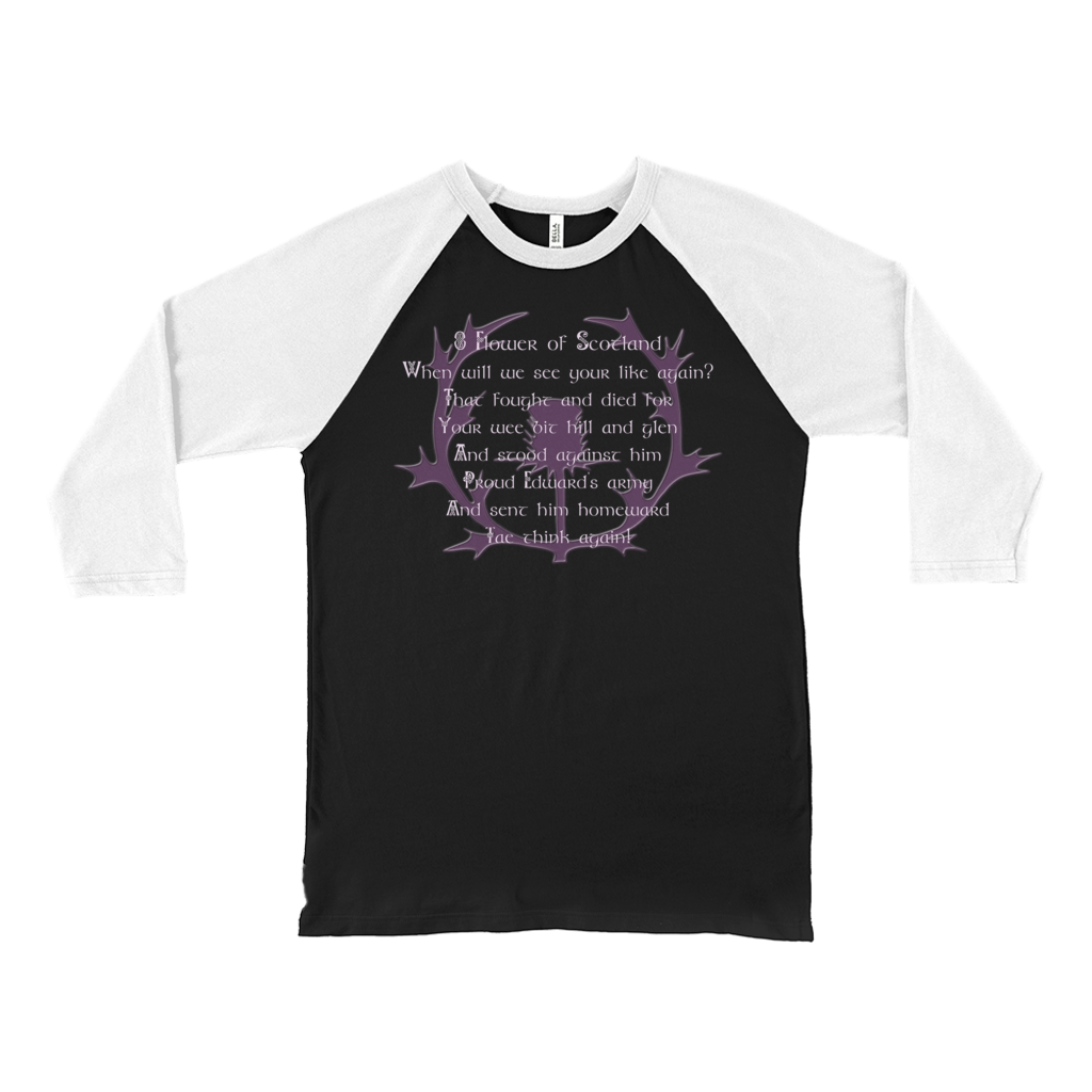 Flower of Scotland Baseball Tee - Mountain Thyme