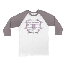 Load image into Gallery viewer, Flower of Scotland Baseball Tee - Mountain Thyme