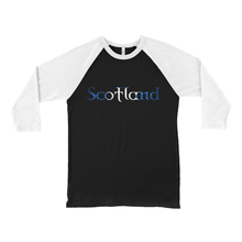 Load image into Gallery viewer, Scotland Saltire Baseball Tee - Mountain Thyme