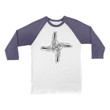 Load image into Gallery viewer, St. Brigid's Cross Baseball Tee - Mountain Thyme
