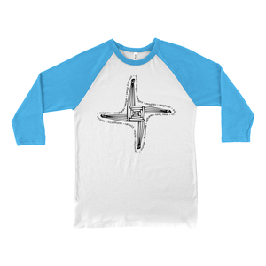 St. Brigid's Cross Baseball Tee - Mountain Thyme