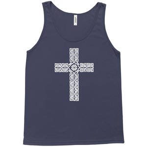 Celtic Cross Premium Tank Top - Mountain Thyme