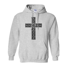 Load image into Gallery viewer, Celtic Cross Hoodie Pullover Sweatshirt - Mountain Thyme