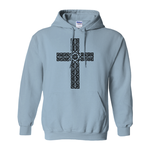 Celtic Cross Hoodie Pullover Sweatshirt - Mountain Thyme