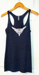 Ashleigh Celtic Knot screen printed tank top in Vintage Navy