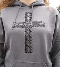 Load image into Gallery viewer, Celtic Cross Hoodie - Mountain Thyme
