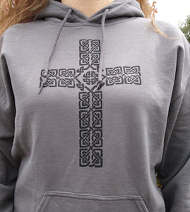 Celtic Cross Hoodie - Mountain Thyme