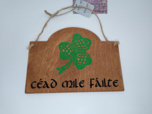 Small Celtic Wooden Signs