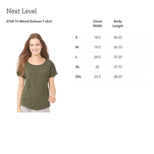 Tartan Thistle Ladies  Dolman Tee - Mountain Thyme