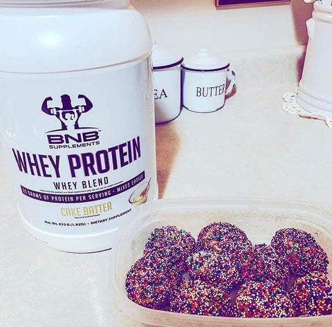 BNB Supplements Cake Balls Dessert Cake Batter Protein