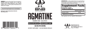 Agmatine Sulfate 500mg Twin Pack