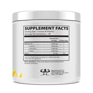 Instantized BCAA Powder 4:1:1 Lemon Drop Back