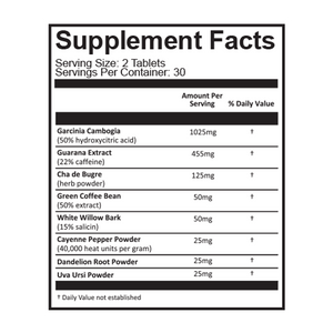 Diet Buddy Supplement Facts