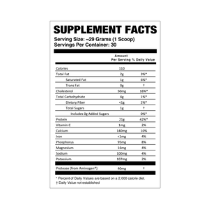 BNB Supplements Mint Chocolate Chip Whey Protein Supplements and Nutrition Facts