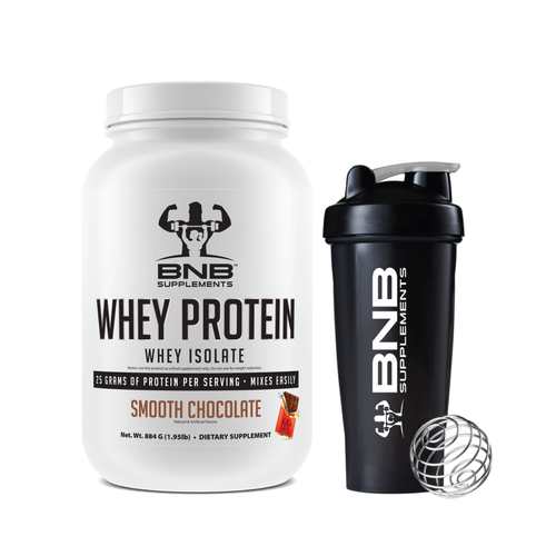 Smooth Chocolate Whey Protein & Shaker Cup