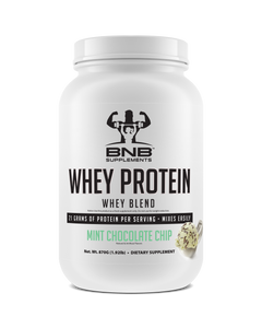 BNB Supplements Mint Chocolate Chip Whey Protein tastes like ice cream