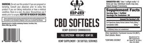 CBD Hemp Oil Extract (Full Spectrum), 30 Softgels