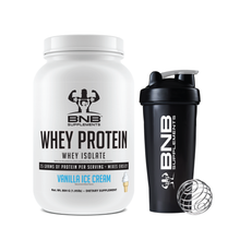 Load image into Gallery viewer, Vanilla Ice Cream Whey Protein Isolate & Shaker Cup