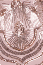 Load image into Gallery viewer, NAZZ COLLECTION VIENNA ROSE GOLD TRIBAL VIP ILLUSION SEQUIN MERMAID MAXI DRESS