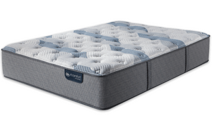 King Mattress Serta iComfort Hybrid  Blue Fusion 100 Firm - Mattress First USA