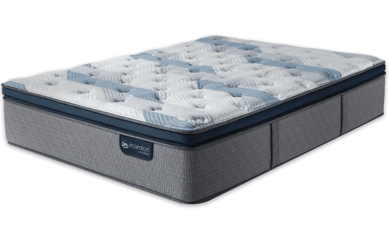 Queen Mattress Serta iComfort Hybrid  Blue Fusion 300 Plush Pillow Top