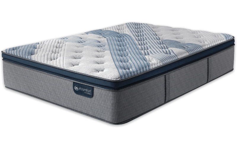 King Mattress Serta iComfort Hybrid  Blue Fusion 5000 Cushion Firm Pillow Top