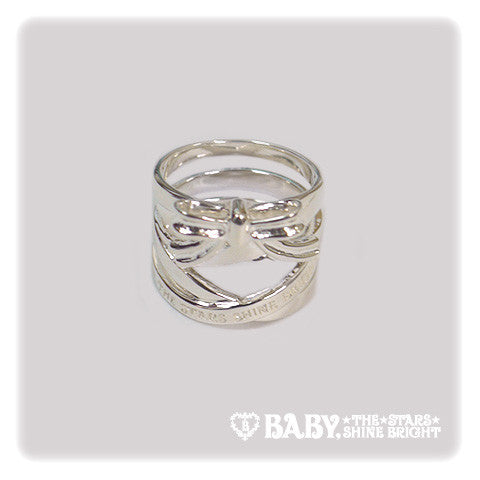 B41AC071 Lace Up Ribbon Ring