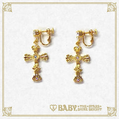 B41AC037 St.Mary Holy Card Earring
