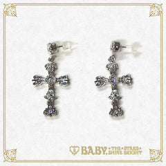 B41AC038 St.Mary Holy Card Pierced Earrings