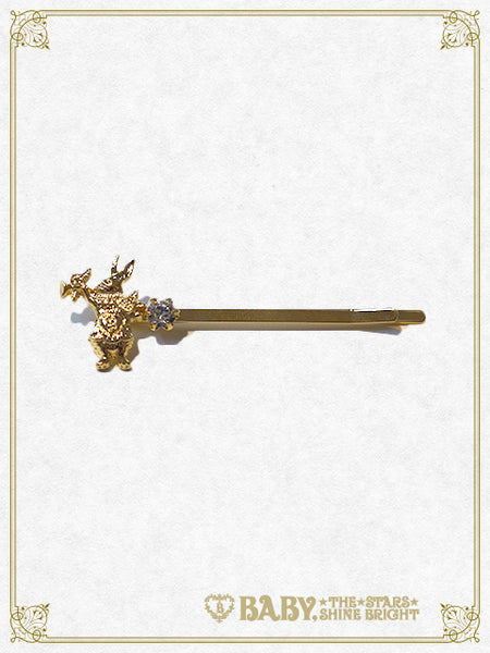 B41AC650 White Rabbit Hair Pin