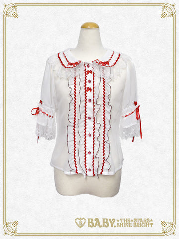[RESERVATION] B41BL418 Kitten's Sweet Cherries Cafe Diner Blouse