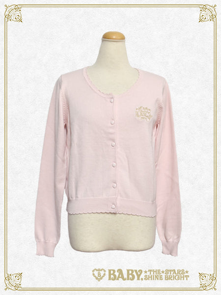B41CD102 Strawberry Embroidery School Cardigan
