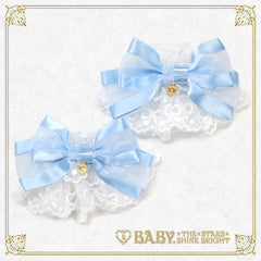 B41CF073 Heart Ribbon Tulle Lace Cuffs