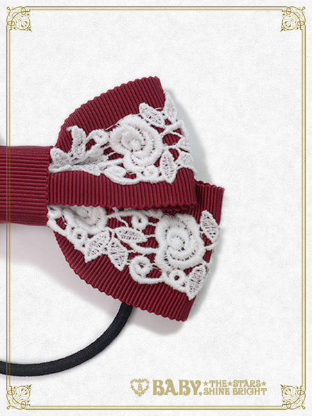 B41HA922 Rose Lace Ribbon Hair Band