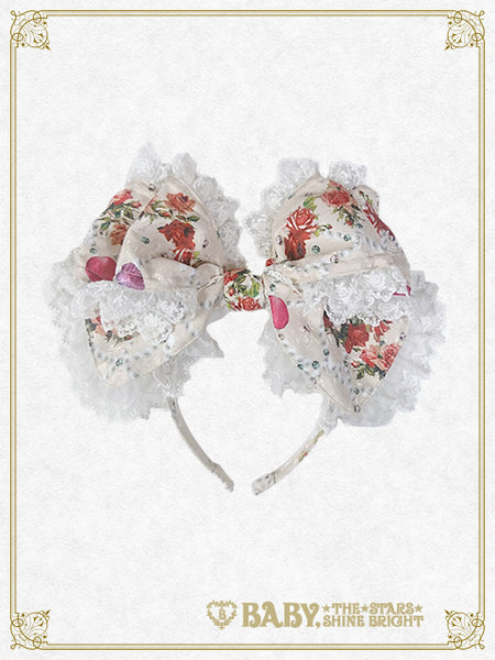 [RESERVATION] B41OH915 Lady Victorian Rose Jewelry~A Wish on the Rose Petals~Headbow