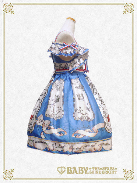 B41OJ203 Invitation From 5th Avenue〜A Blue Box Filled With All My Affection〜Frill Jumperskirt