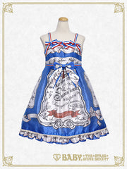B41OJ204 Invitation From 5th Avenue〜A Blue Box Filled With All My Affection〜Ribbon Jumperskirt