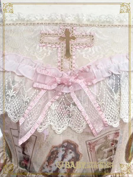 B41OJ211 St.Mary Holy Card Lily Jumperskirt