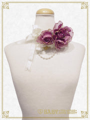 B41OT051 A Rose ~A Single Rose Locked Inside the Glass Dome~ Choker