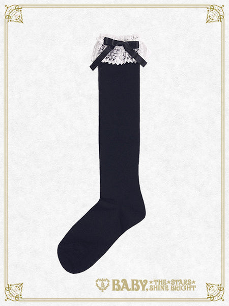 B41SC811 Torchon Lace High Socks