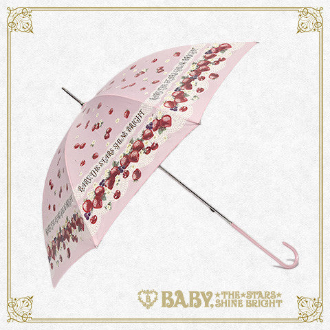 B41UM874 Strawberry's Heart Drops Umbrella