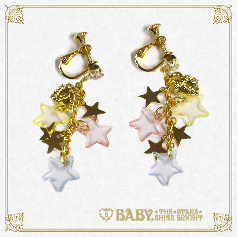 B42AC032 Le Ciel Étoilé ~Night Sky's Gift~ Clip On Earrings