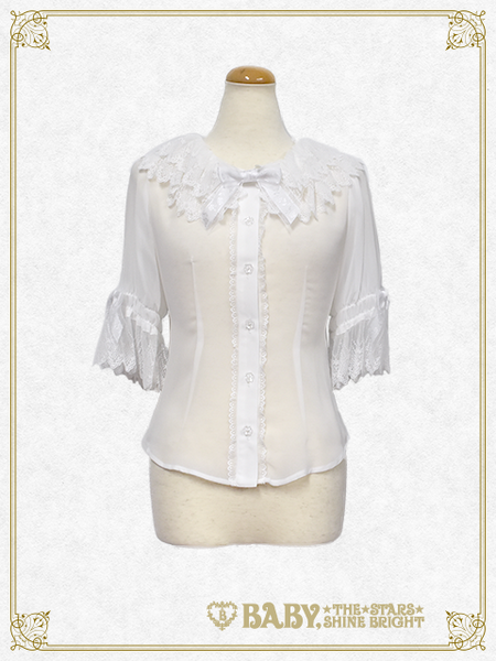 B42BL420 Chiffon Half-Length Sleeve Blouse